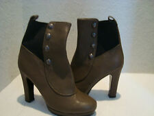 New Juicy Couture Womens Radley Ankle Boots Shoes Black Taupe 9 Medium