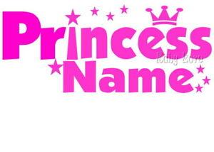 IRON ON TRANSFER PERSONALISED PRINCESS STARS TIARA #22