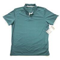 NWT Oakley Divisional Polo Hydrolix Mens XL Teal Green Short Sleeve Golf Shirt