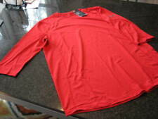 Nwt - Mens Under Armour Red Fitted 3/4 Sleeve Shirt (Large)