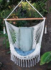 Nicaraguan macrame hamock chair/Hanging furniture/Express Shipping Available