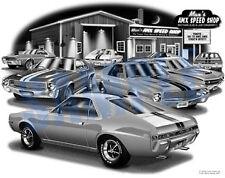 AMX 1968 AMERICAN MOTORS AMX MUSCLE CAR AUTO ART PRINT  #5600