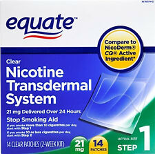 Equate Nicotine Transdermal Patches patch smoking free non cigarette stop