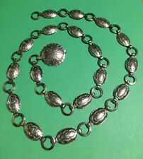 CONCH BELT -SILVER COLOR - OVAL SHAPES