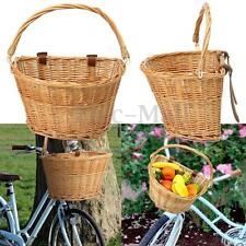 Nantucket Style Wicker Bicycle Basket Front Handlebar Cargo Tool 14''x10''x8.6''
