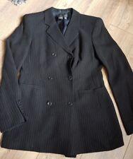 Episode ladies blazer 8 black stripe wool blend