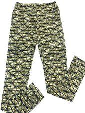 Os Lularoe leggings Black and Yellow Cute Print Fits 2/8