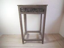 Beistelltisch Blumentisch Telefontisch - Holz braun gebeizt - auf alt gemacht gr