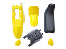 Yamaha PW50 PY50 Plastic Fender + Seat + Fuel Tank Motorcycle Parts(Yellow)1 Set