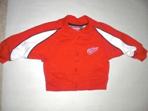 DETROIT RED WINGS sewn snap button Jacket Reebok BABY 12 MONTHS