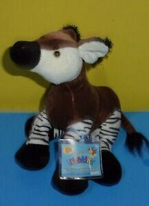 Webkinz OKAPI Ganz HM445 SEALED CODE Wildlife Plush Deer Zebra Congo