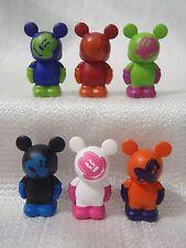 Disney Vinylmation Oh Mickey SET OF 6 EXPRESSIONS Jr 1.5 Figures No-Clip Version