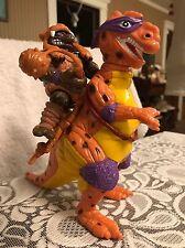 Teenage Mutant Ninja Turtles TMNT Caveman Donatello w/ Dinosaur - Playmates 1993