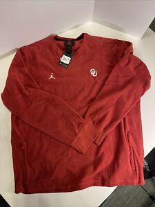 Oklahoma Sooners Nike Jordan Sweatshirt CN9870-613 'Maroon' Mens Size XXl Tall