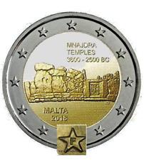 Malta 2€ comm. 2018  Mnajdra  FDS Logo Malta