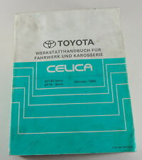 Workshop Manual Toyota Celica AT180/st 182, 184, 185 by 10/1989