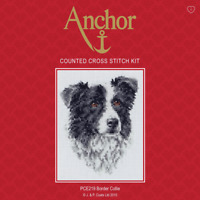 Anchor Counted Cross Stitch Kit: Border Collie Dog Great Gift (PCE219)