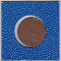 2 Pfennig Hannover 1845 A Ernst August Hanover
