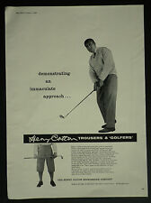 Golf Henry Cotton Sportswear Company Trousers Golfers 1960 Page Advertisement