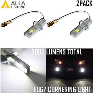 Alla Lighting LG-CSP SMD LED H3 Cornering Light,Driving Light Pure White 6000K
