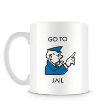Go To Jail Board Game Police Officer Funny Cool Retro Mug