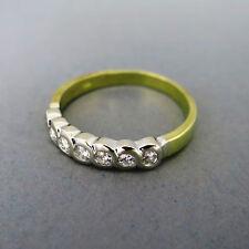 Unbehandelte gut geschliffene mit echten Diamanten Ringe aus mehrfarbigem Gold