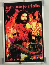 Nip Vintage Black Light Jim Morrison Poster Mr Mojo Risin The Doors Lizard King