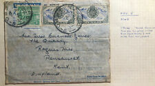 1946 New Zealand Army PO British Occupation Zone Japan Air Letter Cover To UK