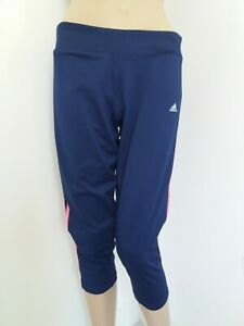 Adidas Climalite Ladies Navy Mix Cycling Gym Running Sport's Leggings UK Large