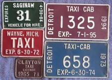 MICHIGAN TAXI x 5 LICENSE/NUMBER PLATES