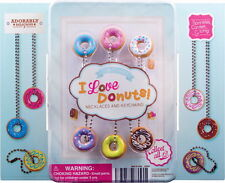 12 I LOVE DONUTS KEYCHAINS AND NECKLACES KEY CHAINS HOTTEST NEW ITEM FAST SHIP!
