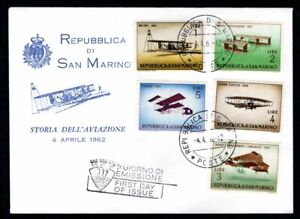 San Marino - 1962 Vintage Aircraft First Day Cover
