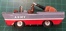 VINTAGE ARMY AMPHIBIOUS LITHO FRICTION TIN KANTO TOYS Japan Old