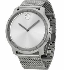 Movado Bold 3600260 Silver Dial Stainless Steel Mesh Men's Watch