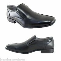 MENS JULIUS MARLOW JM33 JM LACHLAN BLACK FORMAL CASUAL SLIP ON WORK DRESS SHOES