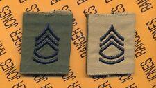 Enlisted SERGEANT FIRST CLASS SFC E-7 OD Desert Reversable slip on rank patch