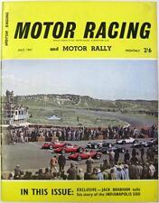 MOTOR RACING Magazine Jul 1961 - 24 Heures Du Mans, Nurburgring, Indianopolis
