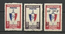 """French INDOCHINA 1943 """" National emergency """" Complete set 3 new stamps *  (6548)"""