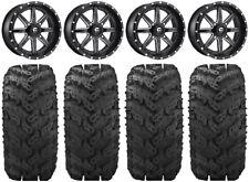 """Fuel Maverick Black 20"""" Wheels 30"""" Reptile Tires Can-Am Maverick X3"""