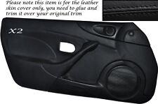 BLACK STITCH 2XFULL DOOR CARD SKIN COVER FITS MAZDA MX5 MK2 MK2.5 00-05 STYLE 2