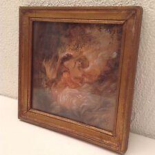 Dessin ancien de Eliane DIVERLY (1914 - 2012) Scène galante d'après Fragonard