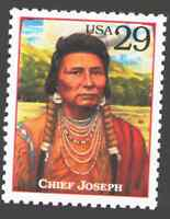 US. 2869 f. 29c. Chief Joseph (c. 1840-1904). Legends of the West. MNH. 1994