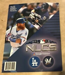 2018 NLCS National League Championship Program Dodgers Brewers NEW shipped inBox