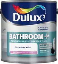 Dulux Bathroom+ Soft Sheen Mould Resistant Bathroom Paint 1L P Brilliant White