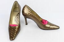 Court shoes CHARLES JOURDAN Paris All Leather Bronze 6 B / FR 36,5 BE