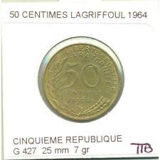 50 CENTIMES LAGRIFFOUL 1964 TTB