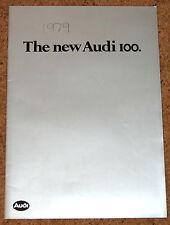The New AUDI 100 Launch Brochure 1979:  L-5S, GL-5S, GL-5E, CD-5E