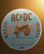 AC/DC BackStage Pass 9/30/1982 Birmingham England After Show  LAST ONE IN STOCK!