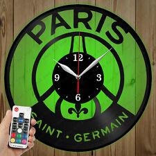 LED Vinyl Clock Paris Saint-Germain LED Wall Art Decor Clock Original Gift 3343