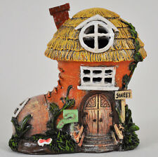 Garden Fairy House Thatched Boot With Lights Decorative Ornament Secret Garden